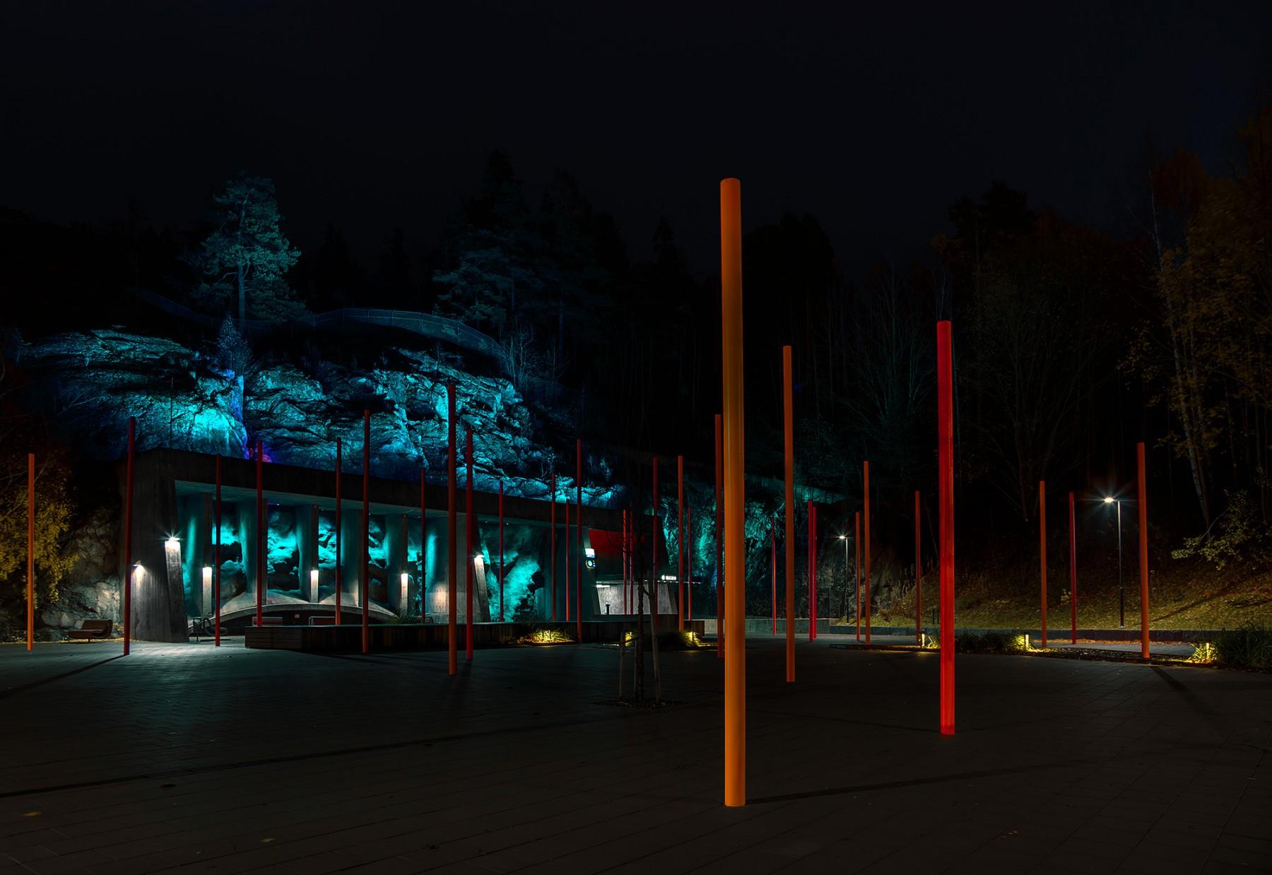 Ljusinstallationer av Michael Hallbert Ljusdesign AB 2008 (ändring av metadata kräver upphovsmannens tillstånd)