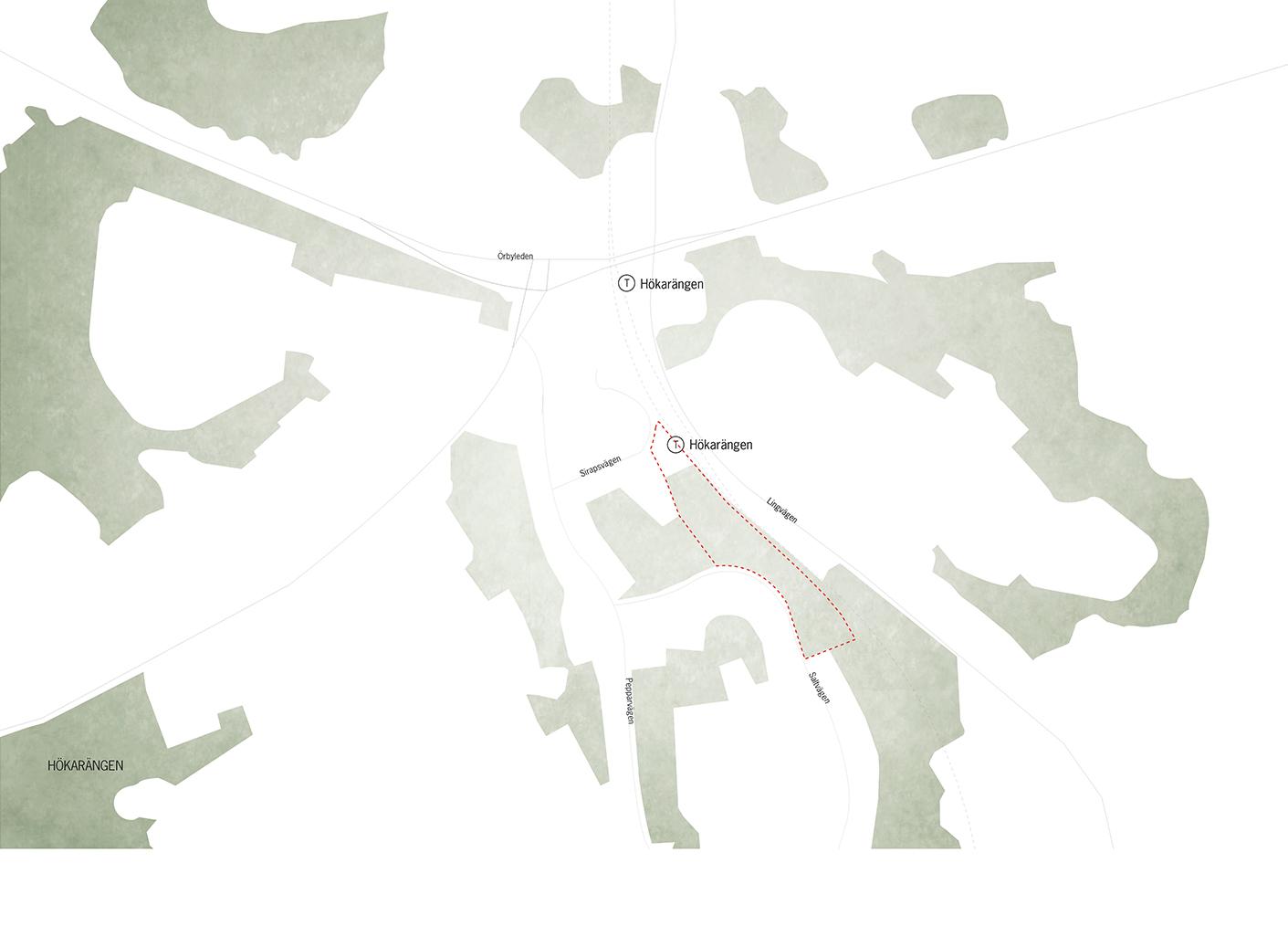 Hökarängen_ikonkarta_Land_Akriktektur