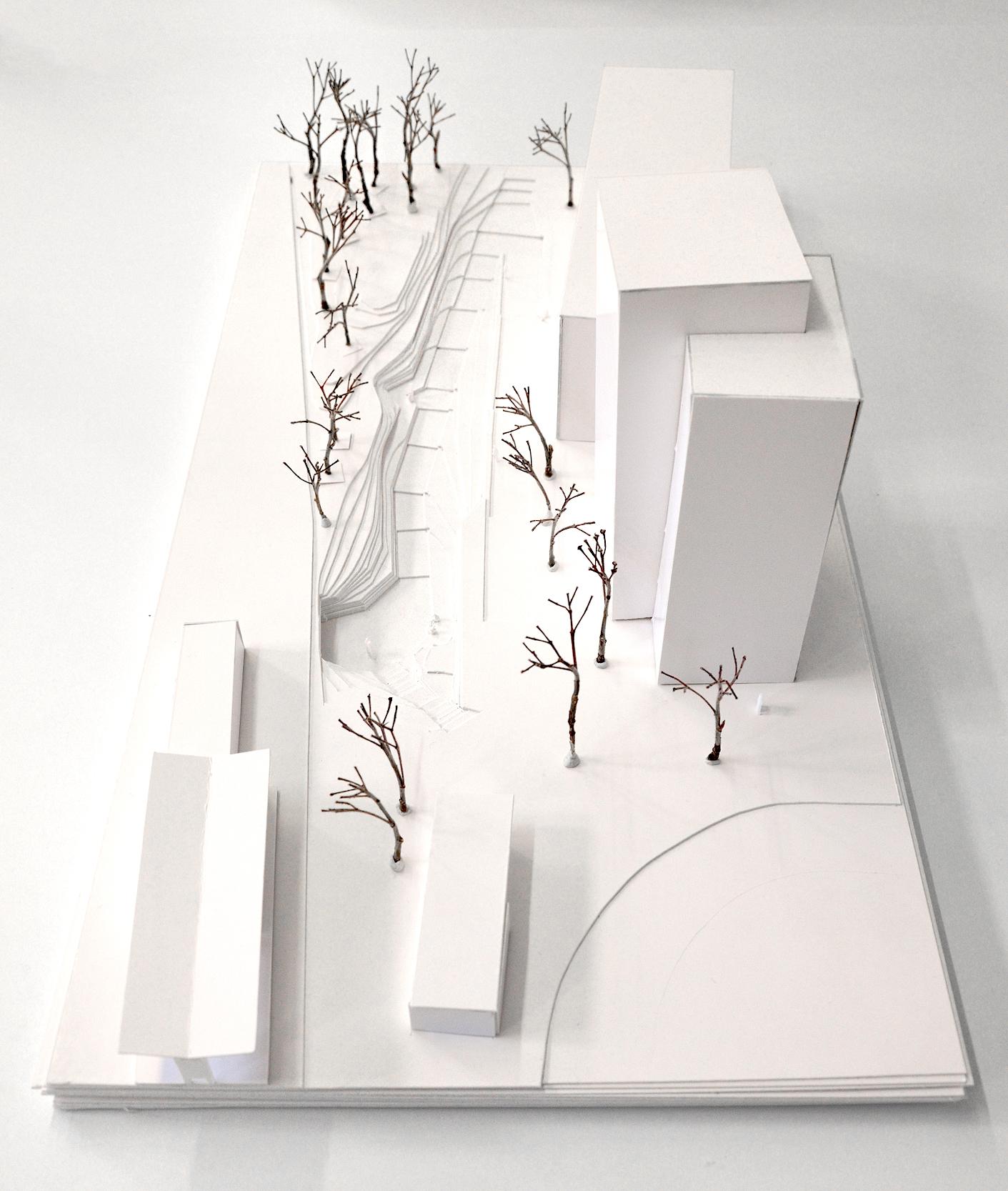Hökarängen_modell_överblick_Land_Akriktektur